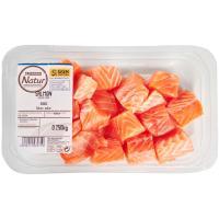 Dados de salmón Eroski NATUR, bandeja 250 g