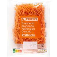 Zanahoria rallada EROSKI, bolsa 150 g