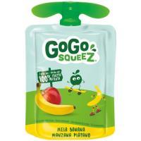 Fruta triturada manzana-plátano 100% GOGO SQUEEZ, doypack 90 g