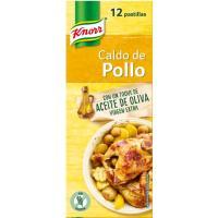 Caldo de pollo KNORR, 12 pastillas, caja 120 g