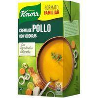 Crema de pollo con verduras KNORR, brik 1 litro