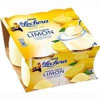 Yogur de limón enriquecido LA LECHERA, pack 4x125 g