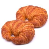 Croissant curvo de mantequilla EROSKI, bandeja 3 unid.