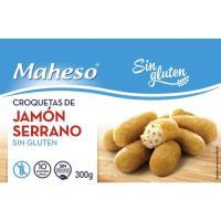 Croquetas de jamón sin gluten MAHESO, caja 300 g