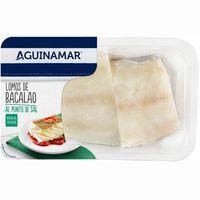 Lomos de bacalao al punto de sal AGUINAMAR, bandeja 300 g