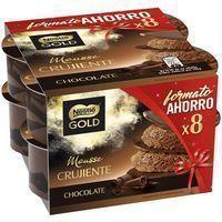 Mousse Gold de chocolate NESTLÉ, pack 8x57 g