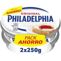 Queso natural PHILADELPHIA, pack 2x250 g