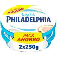 Queso light PHILADELPHIA, pack 2x250 g
