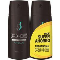 Desodorante Apollo AXE, pack 2x150 ml