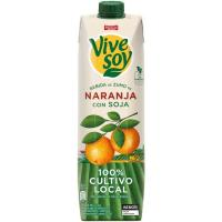 Bebida de naranja-soja PASCUAL Vivesoy, brik 1 litro