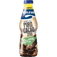 Batido puro cacao 0% PULEVA, botella 1 litro