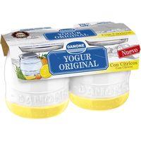 Yogur enriquecido con cítricos DANONE Original, pack 2x135 g