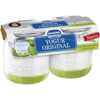 Yogur enriquecido de kiwi-manzana DANONE Original, pack 2x135 g