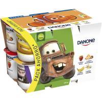 Yogur de fresa-macedonia-plátano-vainilla DANONE, pack 12x125 g