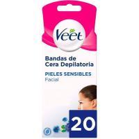 Banda facial easy-gelwax piel sensible VEET, caja 20 unid.