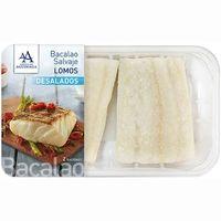 Lomos selectos de bacalao desalado AGUINAMAR, bandeja 270 g