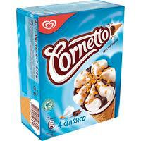 Cono Clásico CORNETTO, 4 unid., caja 240 g