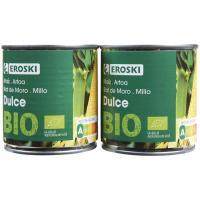 Maíz ecológico EROSKI, pack 2x140 g