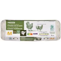 Huevo fresco M suelo País Vasco EROSKI, cartón 1 docena
