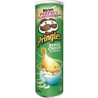 Patatas Sour Cream&Onion PRINGLES, tubo 190 g