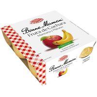 Compota de manzana-plátano BONNE MAMAN, pack 4x100 g