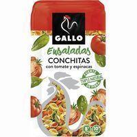 Pasta conchitas vegetales GALLO, paquete 500 g