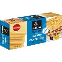 Placas para lasaña-canelones sin gluten GALLO, caja 250 g