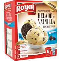Preparado para helado de vainilla Oreo ROYAL, caja 175 g