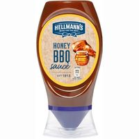 Salsa barbacoa-miel HELLMANNS, bocabajo 250 ml