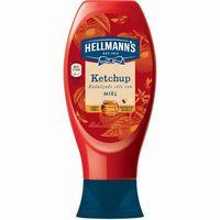 Ketchup con miel HELLMANNS, bocabajo 469 g