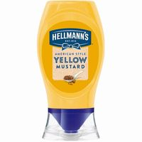 Salsa mostaza americana HELLMANN'S, bocabajo 260 g