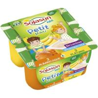 Petit plátano-albaricoque soja SOJASUN, pack 4x90 g