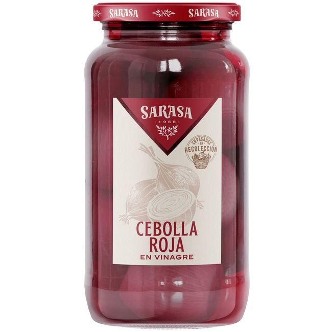 Cebollas rojas en vinagre SARASA, frasco 500 g