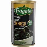 Aceitunas negra sin hueso FRAGATA, lata 150 g