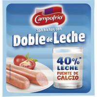 Salchicha con doble de leche CAMPOFRÍO, sobre 140 g
