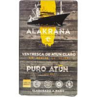 Ventresca de atún claro en aceite oliva ALAKRANA, lata 115 g