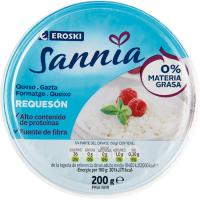 Requesón 0% EROSKI Sannia, tarrina 200 g