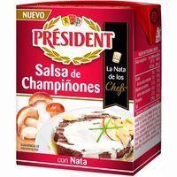 Salsa con nata-champiñones PRESIDENTE, brik 200 ml