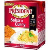 Salsa con nata-curry PRESIDENT brik 200 ml