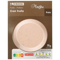 Paté de pato-trufa EROSKI Maestro, blister 75 g