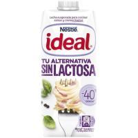 Leche evaporada desnatada sin lactosa IDEAL, brik 525 g