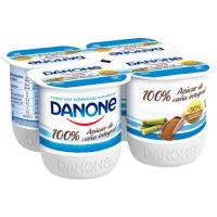 Yogur natural azucarado con caña de azúcar DANONE, pack 4x125 g