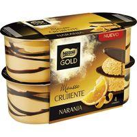 Mousse con naranja NESTLÉ Gold, pack 4x57 g