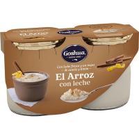 Arroz con leche GOSHUA, pack 2x125 g