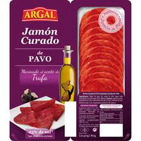 Jamón curado de pavo trufado ARGAL, pack 2x40 g