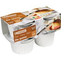 Flan de queso EROSKI, pack 4x100 g