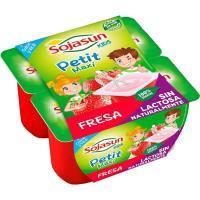 Petit de fresa-frambuesa SOJASUN, pack 4x90 g
