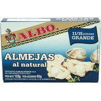 Almejas al natural 11-15 piezas ALBO, lata 65 g