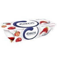 Yogur griego con fresas cortadas OIKOS, pack 2x110 g