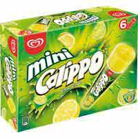 Helado mini limón CALIPPO, pack 6x80 g